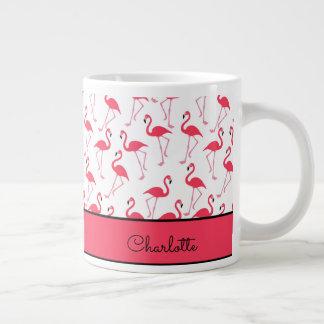 Flamingo-Muster Jumbo-Mug
