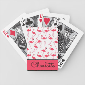 Flamingo-Muster Poker Karten