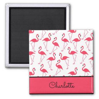 Flamingo-Muster Quadratischer Magnet