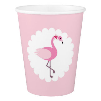 Flamingo-Papierschalen Pappbecher