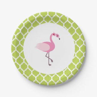 Flamingo-Pappteller Pappteller