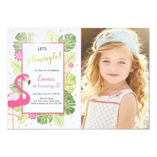 Flamingo-Party Einladung tropisches Geburtstag