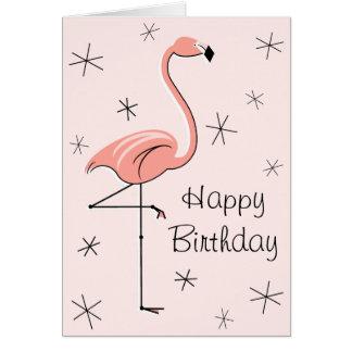 Flamingo-rosa alles Gute zum Grußkarte