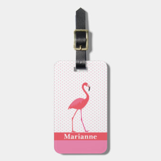 Flamingo-rosa Gepäckanhänger
