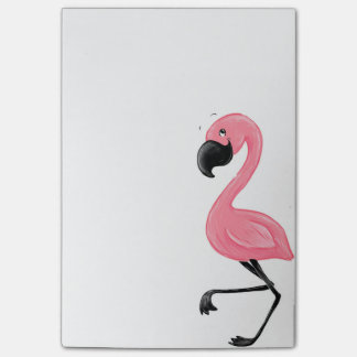 Flamingo-rosa Post-Itanmerkungen Post-it Haftnotiz