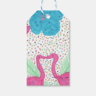 Flamingo-Spaß-tropisches Muster Geschenkanhänger