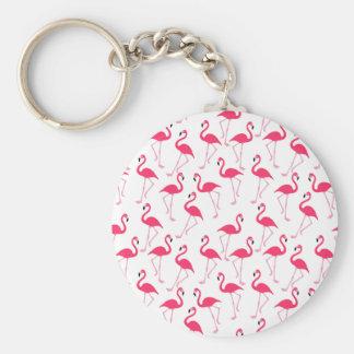 Flamingo Standard Runder Schlüsselanhänger