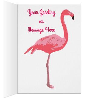 Flamingo-Teich Grußkarte