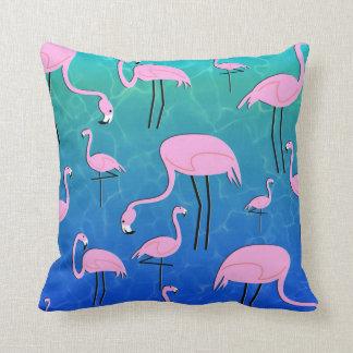 Flamingo-Teich Zierkissen