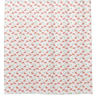 Flamingo u. tropischer Blätter-Muster-Duschvorhang Duschvorhang