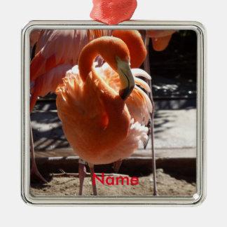 Flamingo-Verzierung Silbernes Ornament
