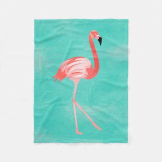 Flamingo-Vogel Fleecedecke