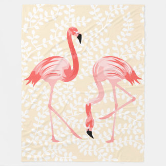 Flamingo-Vögel Fleecedecke