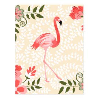 Flamingo-Vogel Postkarte