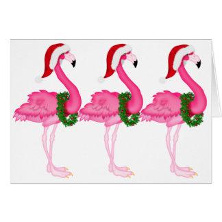 Flamingo-Weihnachtskarte - SRF Grußkarte