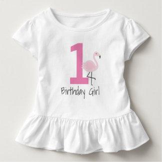 Flamingo-Zahl-Geburtstags-Shirt (kann Alter Kleinkind T-shirt