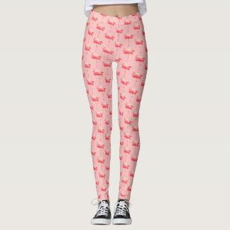 Flamingogamaschen rosa leggings