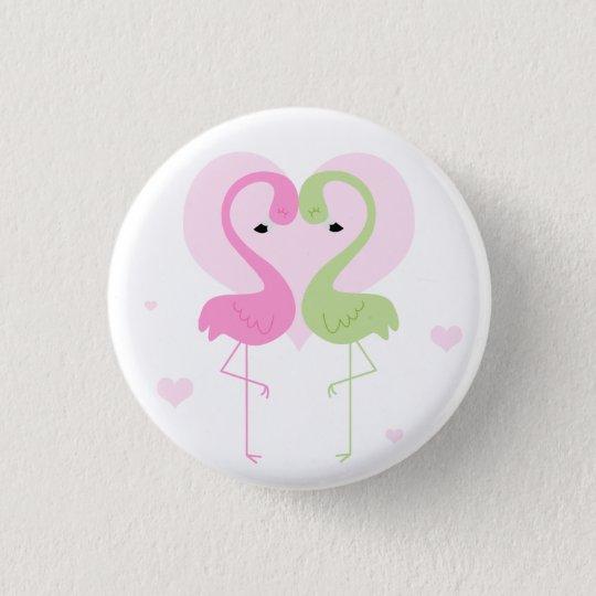 Flamingos Runder Button 3,2 Cm