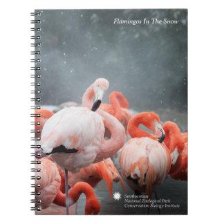 Flamingos Smithsonian | im Schnee Spiral Notizblock