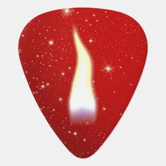 Flamme de bougie de vacances onglet de guitare