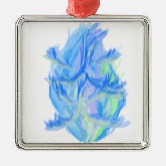 Flamme [japanisch] silbernes ornament