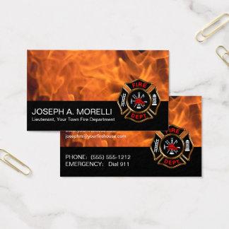 Flammen-Geschäft des Visitenkarte