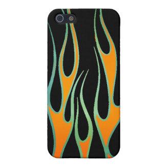 Flammen-Speck-Kasten Etui Fürs iPhone 5