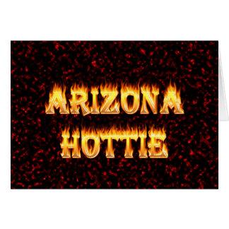 Flammen und Feuer Arizonas Hottie Karte