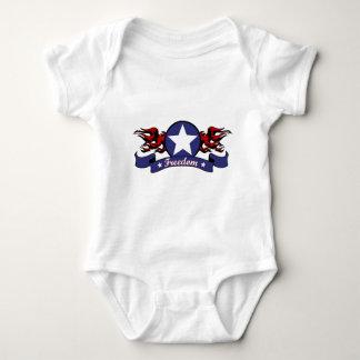 Flammen und Freiheit Baby Strampler