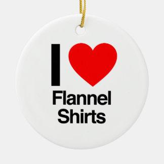 Flanell-Shirts der Liebe I Keramik Ornament
