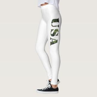 Flanken-Camouflage USA Leggings
