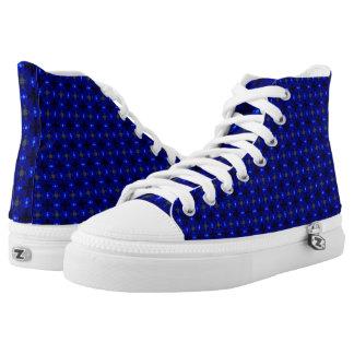 Flashy blaue gemusterte Schuhe