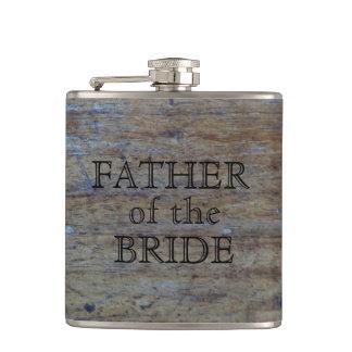 Flasques Père du grain rustique en bois de mariage de la