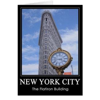 Flatiron Gebäude und Uhr 1C Karte