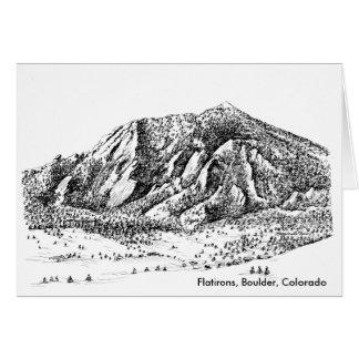 Flatirons Kunst-Karte, Boulder Colorado Karte