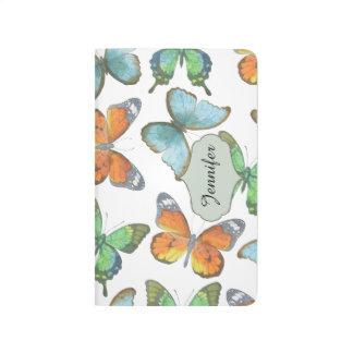 Flatternde Schmetterlinge Taschennotizbuch