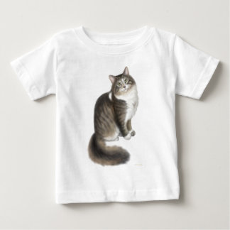 Flaumiger Duffy Katzen-Säuglings-T - Shirt