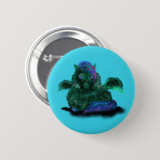 Flaumiges Drache-Pony Runder Button 5,7 Cm