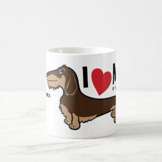 "FLDR ""ich Liebe mein"" Draht-behaarter Kaffeetasse"