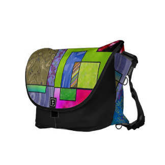 Flecken vieler Farben Kurier Taschen