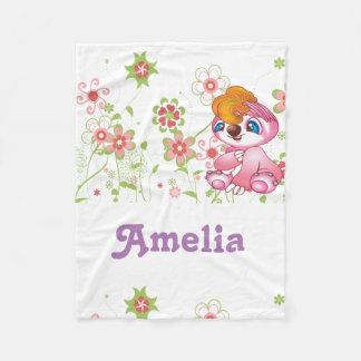 Fleece-Decke für Babymädchen Fleecedecke