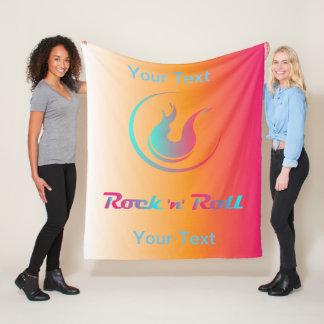 Fleece-Decke mit Rock'n'Roll-Farbwelle Fleecedecke