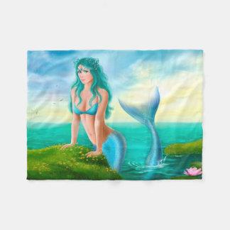 Fleece-Decke, schöne Meerjungfrau der Fantasie im
