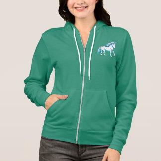 Fleece-ZipHoodie der Unicorn-Frauen Flex Hoodie