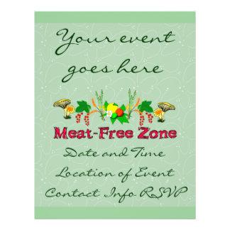 Fleisch-Freie Zone 21,6 X 27,9 Cm Flyer