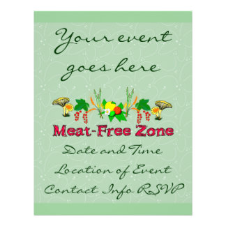 Fleisch-Freie Zone Flyerbedruckung