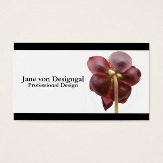 Fleisch fressende Krug-Pflanzen-Blume Visitenkarte