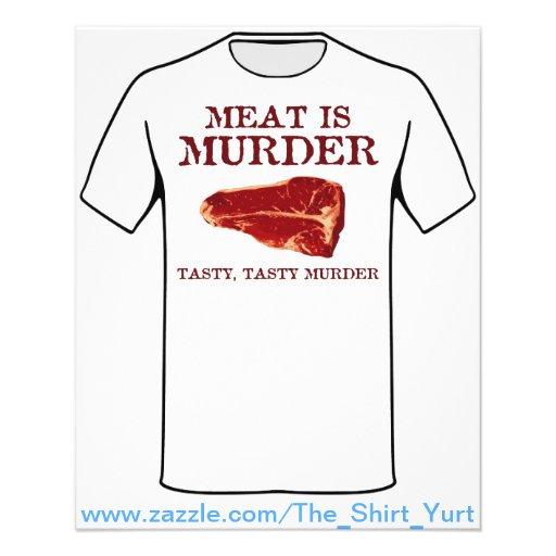 Fleisch ist geschmackvoller Mord Bedruckte Flyer