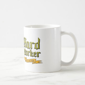 Fleißiger Arbeiter: Erhält die Arbeit erledigt Kaffeetasse