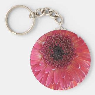 Fleur 1 porte-clé rond